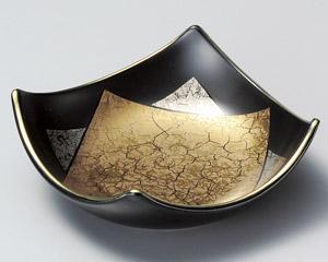 黒釉金銀角刺身鉢