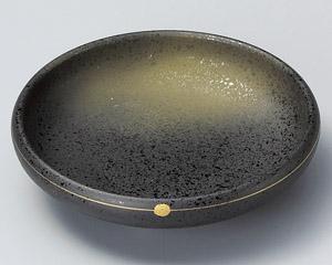 金彩焼締め鉄鉢向付