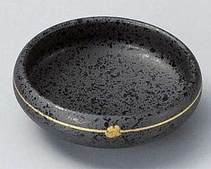 金彩焼締め鉄鉢千代口