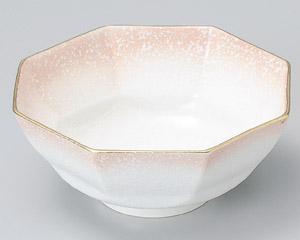 ピンク吹八角刺身鉢