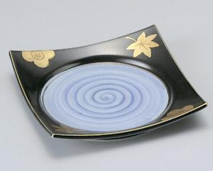 黒釉春秋前菜皿