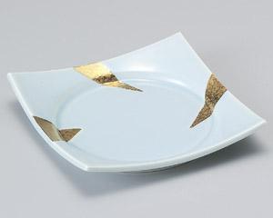 青白金彩前菜皿
