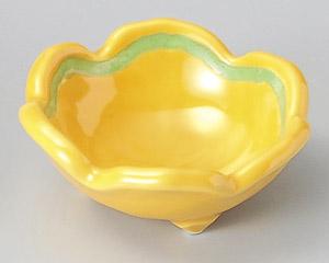 黄釉グリーン梅型千代口