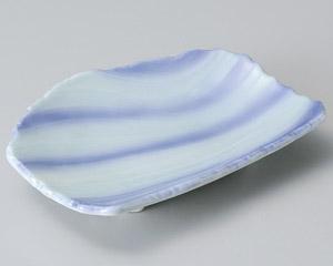 青地流水彫6.0皿
