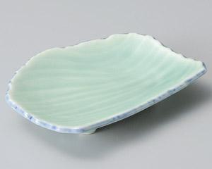 深海青磁流水彫7.0皿
