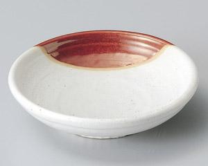 赤釉掛玉渕刺身鉢