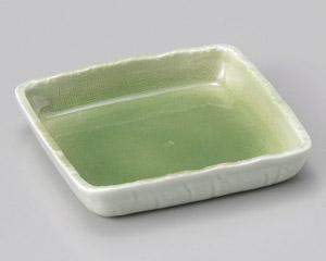 緑青磁5.0正角鉢