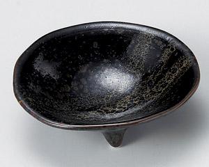 油滴三つ足3.3鉢