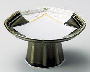 織部間取りラスター彩八角高台鉢