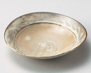 粉引櫛目楕円和皿