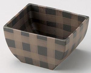 黒伊賀格子角鉢