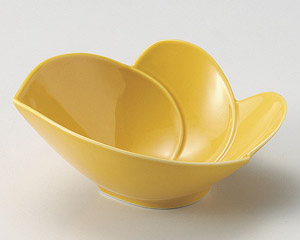 黄交趾かぶ型鉢