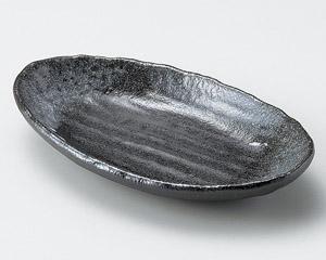黒志野四つ足楕円皿