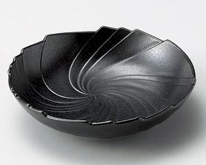 紺斑点うず型5.5平鉢