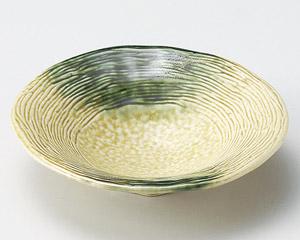 黄瀬戸織部吹5.5浅鉢
