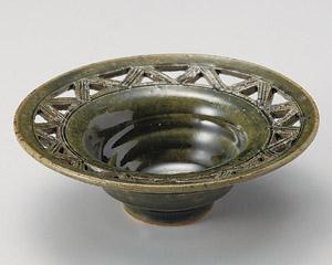 織部透かしリム小鉢(手造り)