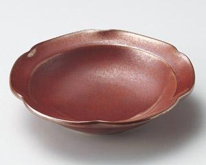 紅結晶花型5.5鉢