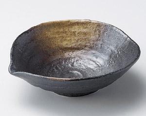 黒備前片口煮物鉢