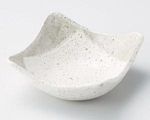 白唐津4.8角鉢