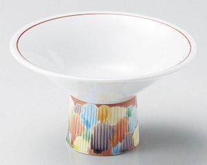 赤彩交趾4.4高台小鉢