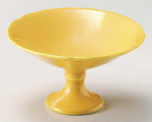 黄釉高台小鉢