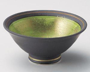 黒呉須グリーン金タタキ反小鉢
