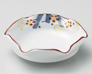 手描き紅梅六つ押小鉢