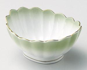 金彩ヒワ吹き菊型小鉢
