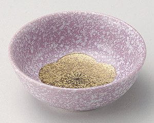 紫釉金梅丸鉢