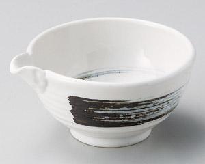 白釉錆刷毛3.6片口鉢