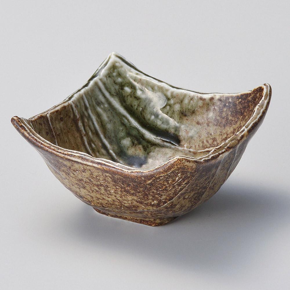 古信楽オリベ吹四角小鉢 中 画像