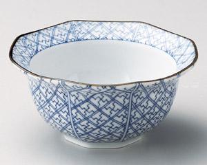 格子八角鉢