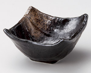 黒釉四角小鉢(小)