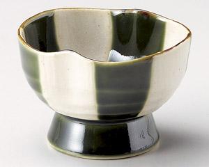 織部格子高台小鉢