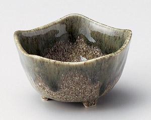 織部塗分五角3.0小鉢
