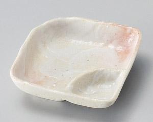 白刷タタキ角仕切鉢