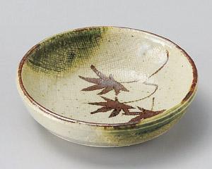 手描き織部丸皿