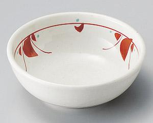 手描き赤絵花紋小鉢