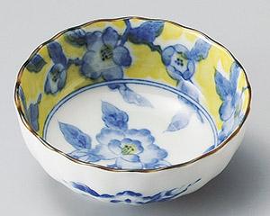 黄彩花紋菊型3.5鉢 画像