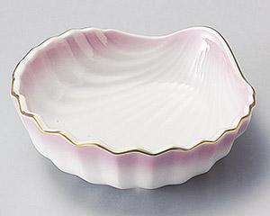 ピンク吹貝型小鉢