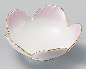渕金ピンク桜型小鉢
