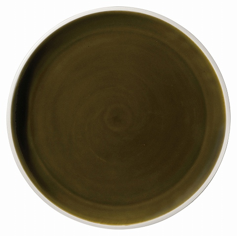 ルスト アンティークグリーン 28.5cmフラットプレート 画像