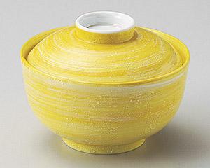 銀彩黄交趾円菓子碗