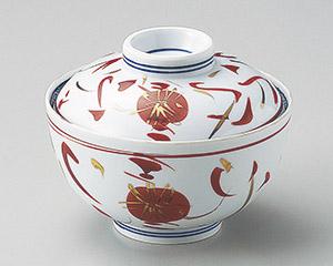 手描赤絵菊円菓子碗