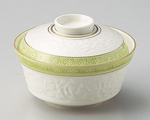 高麗渕グリン花彫煮物碗