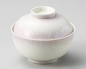 ピンク白吹煮物碗