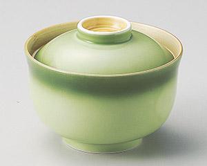 緑彩円菓子碗