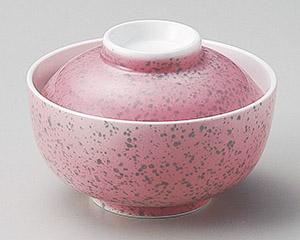 ピンク紺吹菓子碗