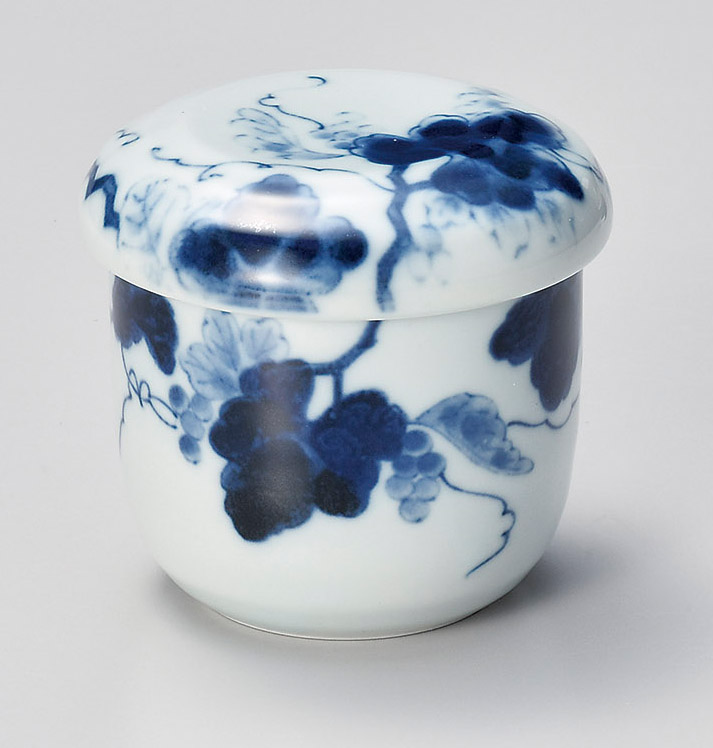 藍染ぶどうむし碗