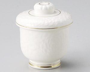 高麗菊唐草彫むし碗